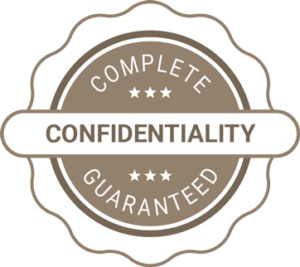 Complete confidentiality guaranteed
