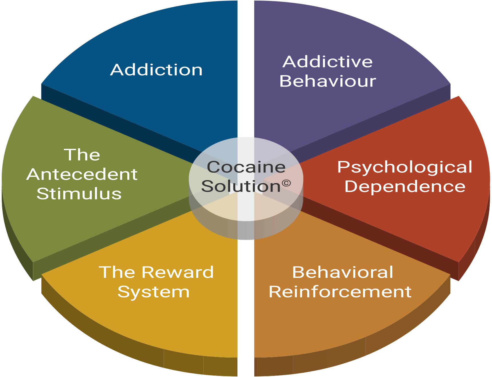 Six psychological parts of the cocaine user